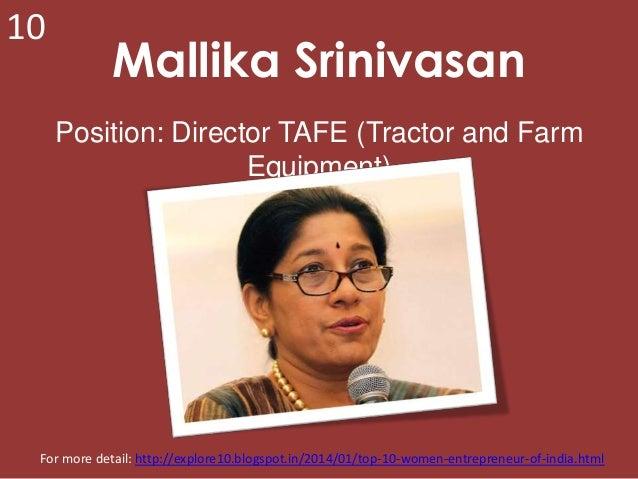 Top 10 women entrepreneur of india