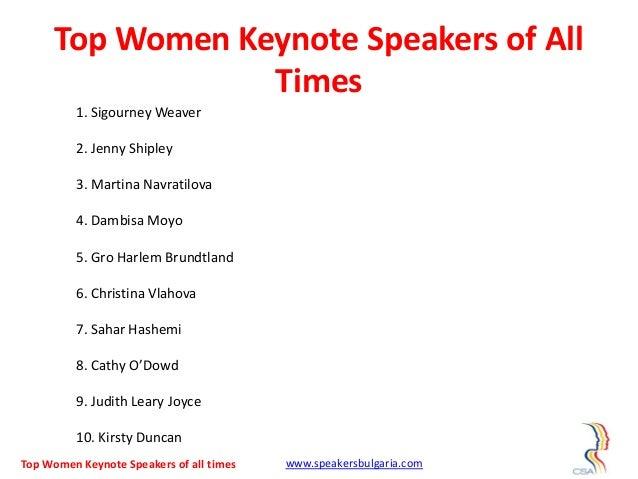 Top 10 women keynote speakers of all times