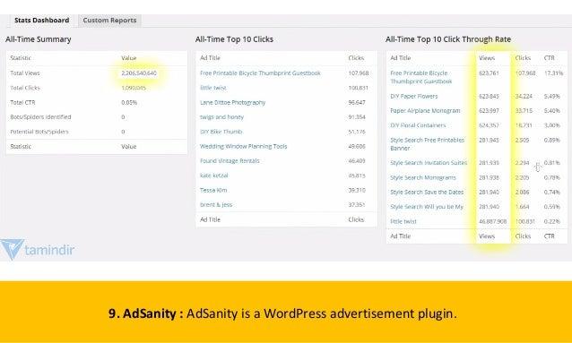 9. AdSanity : AdSanity is a WordPress advertisement plugin.