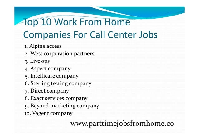 10 best work from home jobs top 10 work from home companies for call center jobs 3648