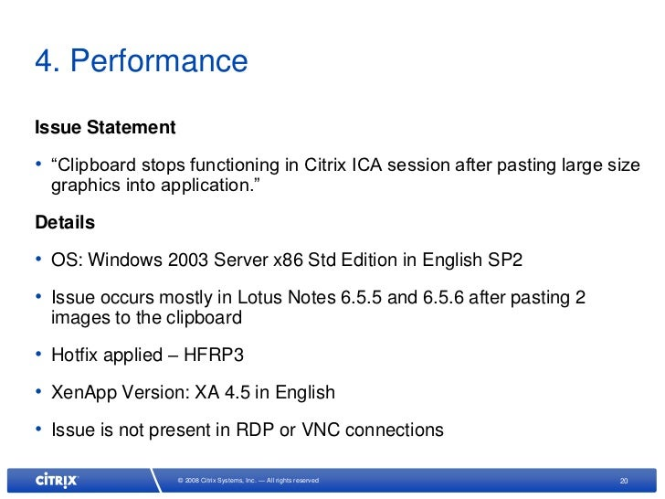 Top 10 Citrix XenApp Issues May 09
