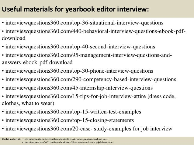 top 10 yearbook editor interview questions and answers