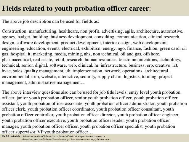 Top 10 youth probation officer interview questions and answers – Probation Officer Job Description