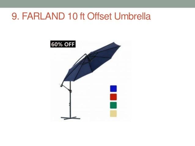 FARLAND 10 ft Offset Umbrella ...  sc 1 st  SlideShare & Top 11 best offset patio umbrellas
