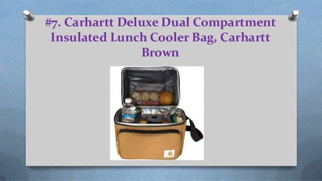 1dd3cc6d031 ... Exterior Design  6.  7. Carhartt Deluxe Dual Compartment Insulated  Lunch Cooler Bag ...