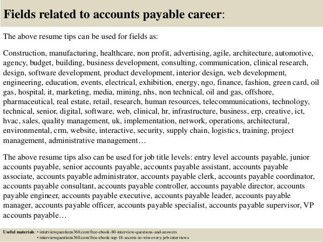 Best Accounts Payable Job Description On Resume Contemporary ...