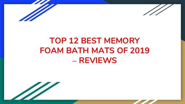 TOP 12 BEST MEMORY FOAM BATH MATS OF 2019 – REVIEWS