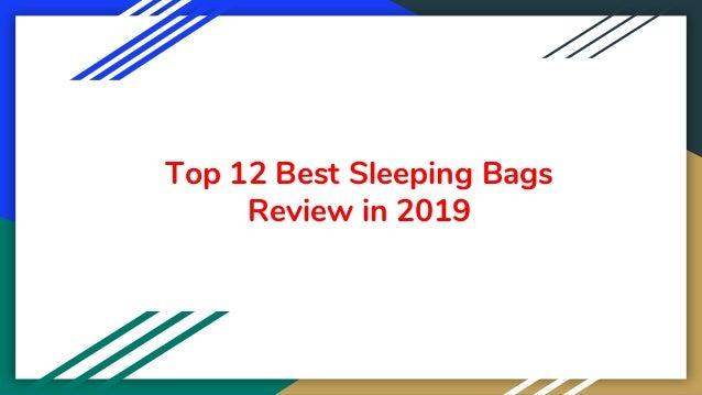 Top 12 Best Sleeping Bags Review in 2019