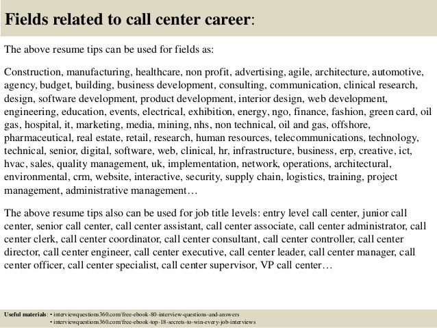 Call Center Resume Example Free Word PDF Documents Download Resume Cover  Letter Call Center Customer Service  Resume For Call Center