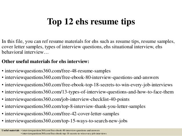 top 12 ehs resume tips 1 638 jpg cb 1428688608
