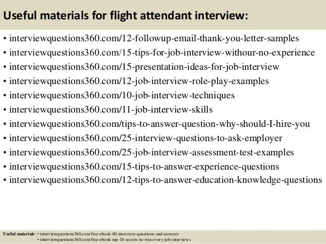 16 useful materials for flight attendant