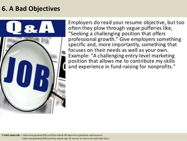 ... 8. 6.  Flight Attendant Resume Objectives