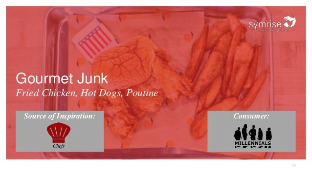 14 Gourmet Junk Fried Chicken, Hot Dogs, Poutine Source of Inspiration: Consumer: Chefs