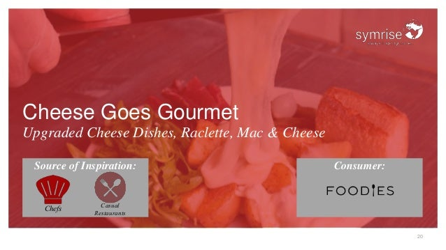 20 Cheese Goes Gourmet Upgraded Cheese Dishes, Raclette, Mac & Cheese Source of Inspiration: Consumer: Chefs Casual Restau...