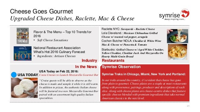 21 Industry Restaurants In the News Symrise Observation Cheese Goes Gourmet Upgraded Cheese Dishes, Raclette, Mac & Cheese...