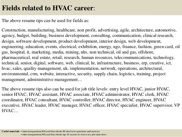 Top 12 hvac resume tips – Hvac Resume