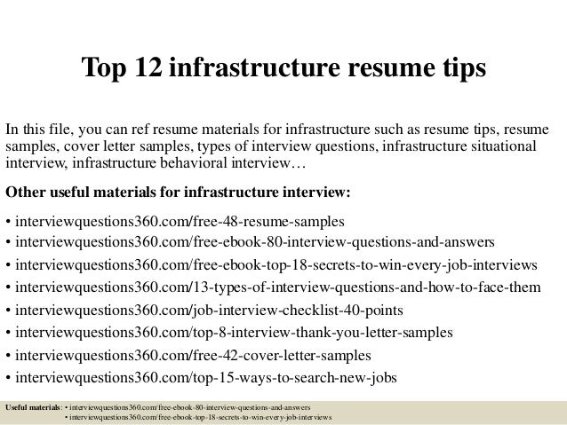 top12infrastructureresumetips1638jpgcb1428688218