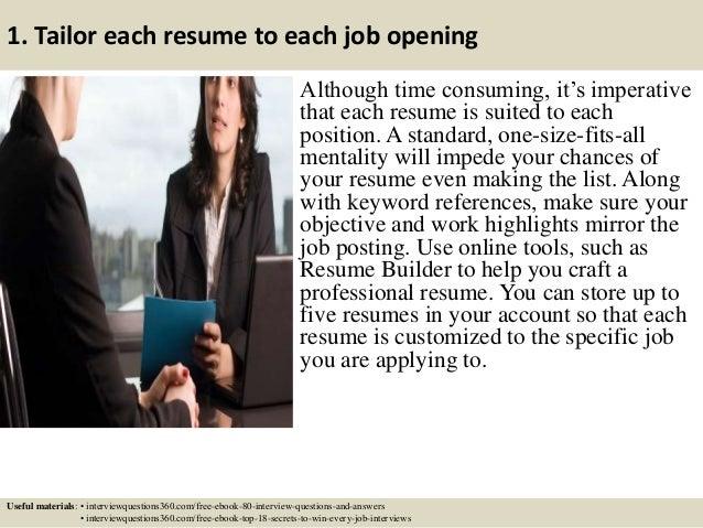 top 12 it resume tips