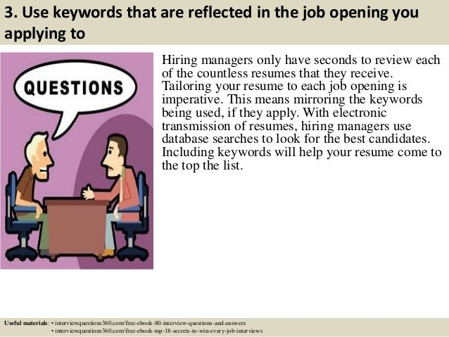 key words in a resumes