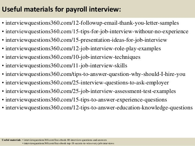 Top 12 Payroll Resume Tips