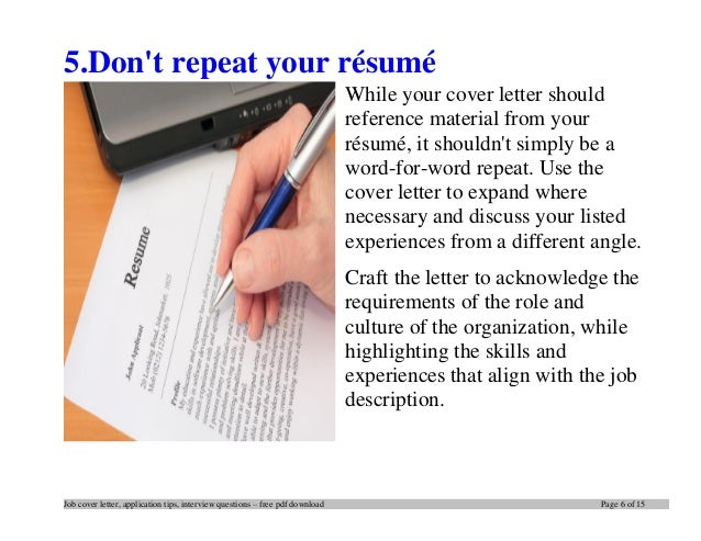 writing cover letters and resumes Linda spencer offers helpful tips and resources to help you write your résumé and cover letter.