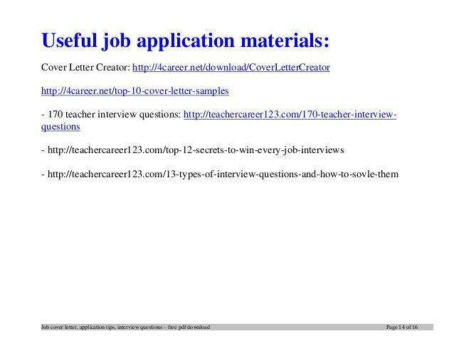 tips for writing a cover letter pdf