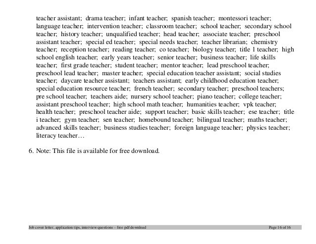 Language teacher cover letter download our sample of for Tips for writing cover letters effectively