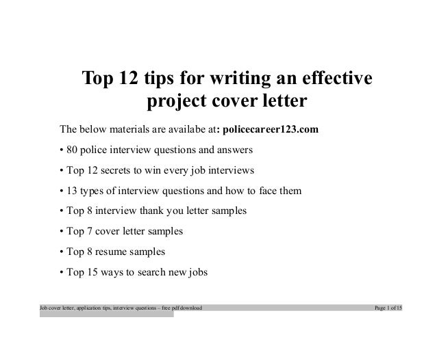 Tips for writing an excellent cover letter