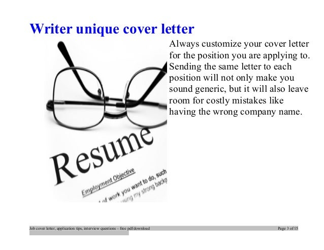 three tips for writing great cover letters Cover letters are as important as resumes and curriculum vitae because they provide interviewers an overview about their job applicants if you want to know more.