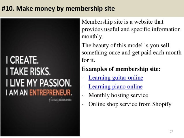 Top 16 ways to make money online forever slideshare - 웹