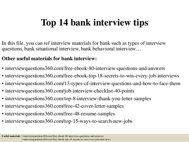 tips on an interview