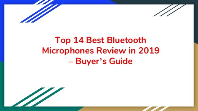 Top 14 Best Bluetooth Microphones Review in 2019 – Buyer's Guide