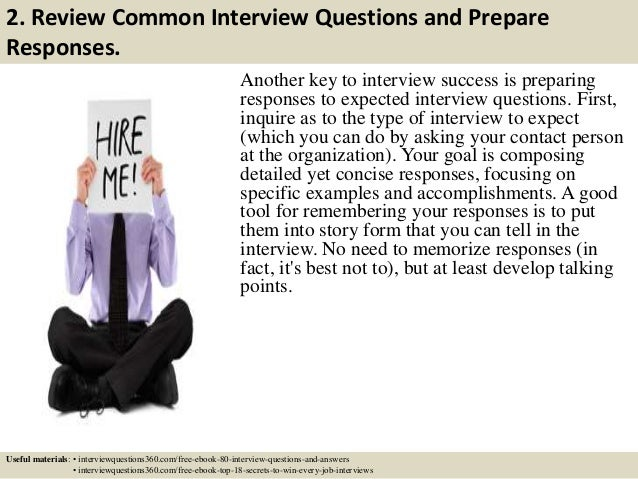 ... 3. 2. Review Common Interview Questions And Prepare ...