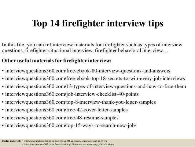 top 14 firefighter interview tips