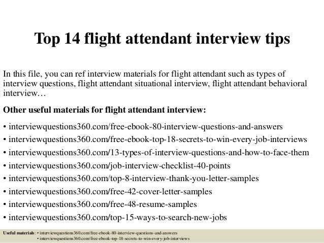 Top 14 Flight Attendant Interview Tips In This File, You Can Ref Interview  Materials For ...  Interview Tips