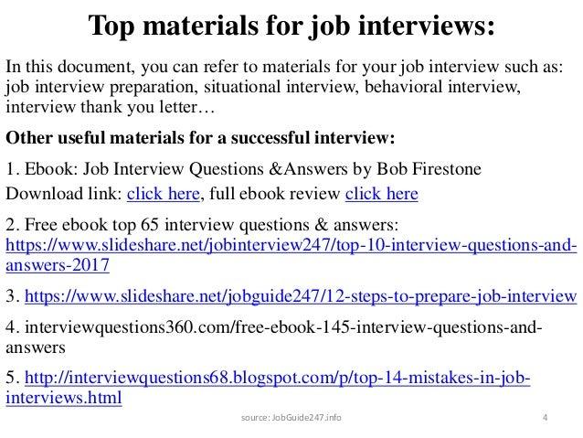 Superb 3source: JobGuide247.info; 4. Top Materials For Job Interviews: .