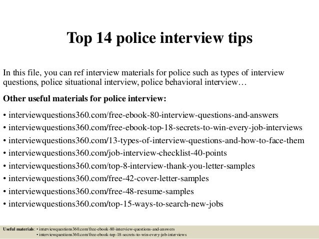 Top 14 Police Interview Tips