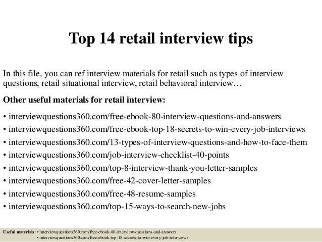 Attractive Interview Tips For Retail