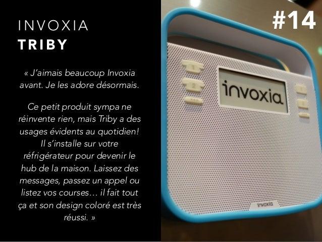I N V O X I A  T R I B Y «J'aimais beaucoup Invoxia avant. Je les adore désormais. Ce petit produit sympa ne réinvente r...