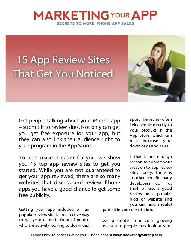15 App Review Sites That Get You Noticed 
