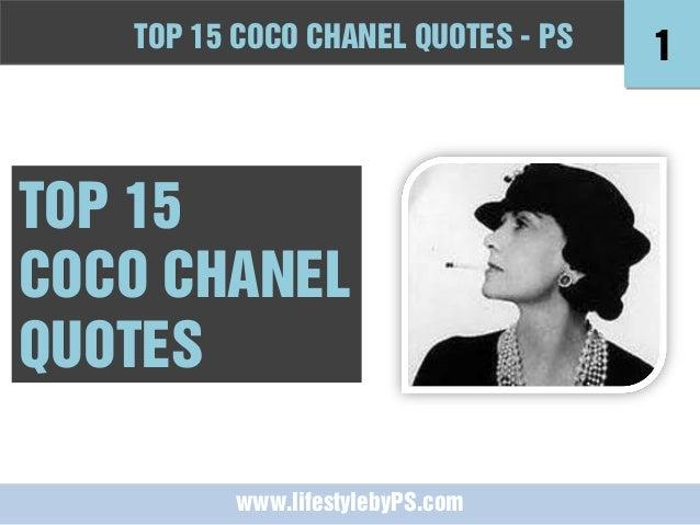 top coco chanel quotes