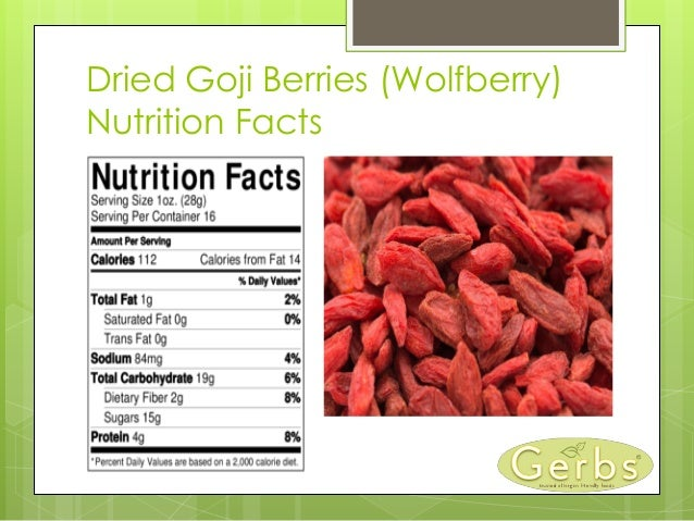 Goji berry nutrition