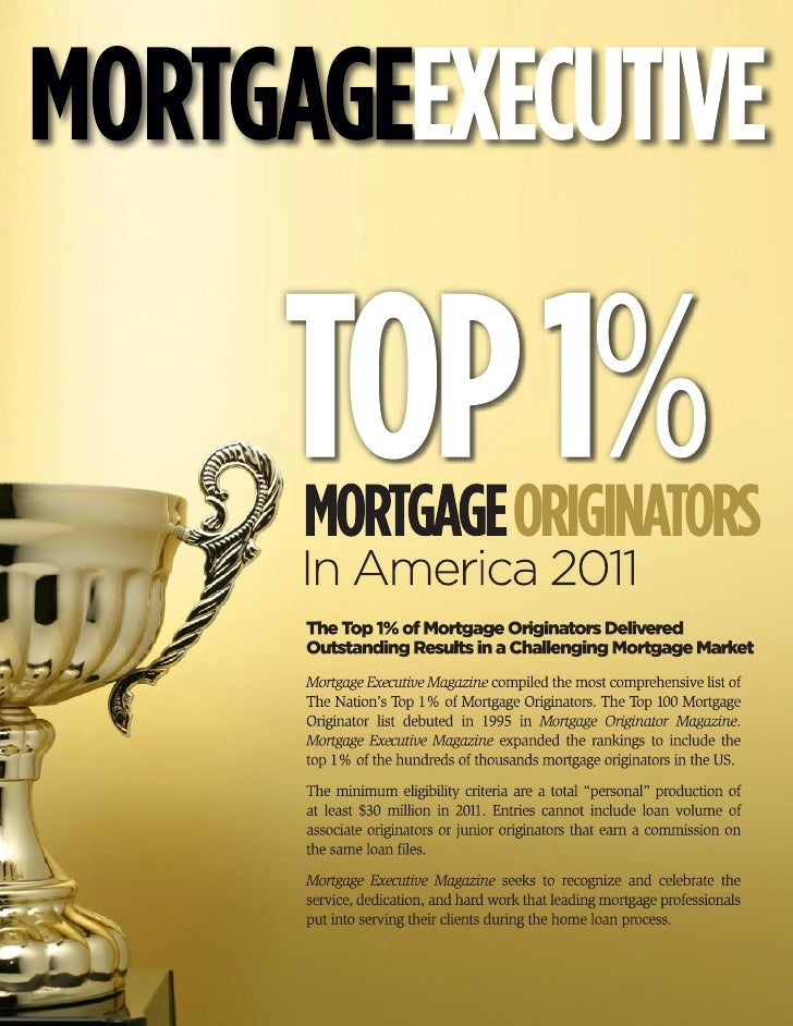 Top 1% Mortgage Originators