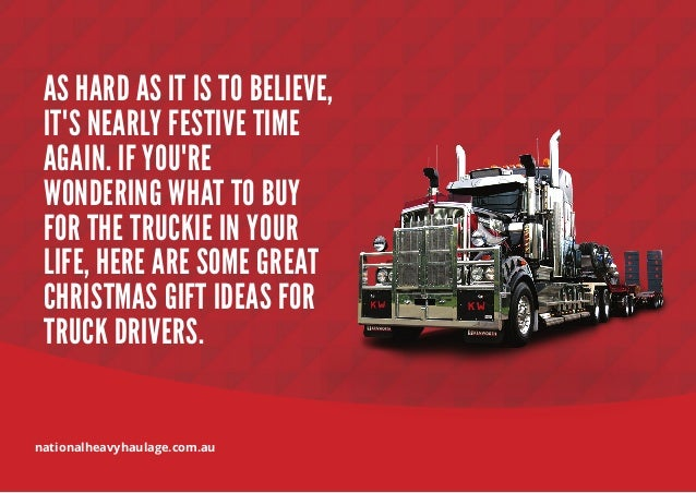 Top 2014 Christmas Gift Ideas for Truck Drivers Slide 2
