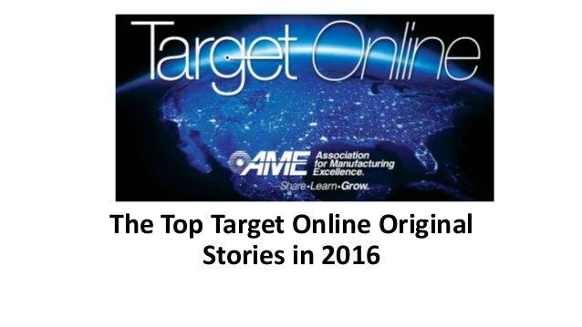 The Top Target Online Original Stories in 2016