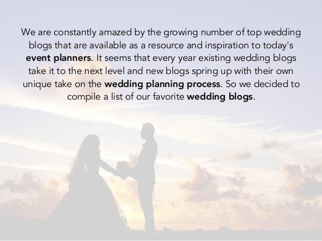 top 2016 wedding planner blogs you should follow
