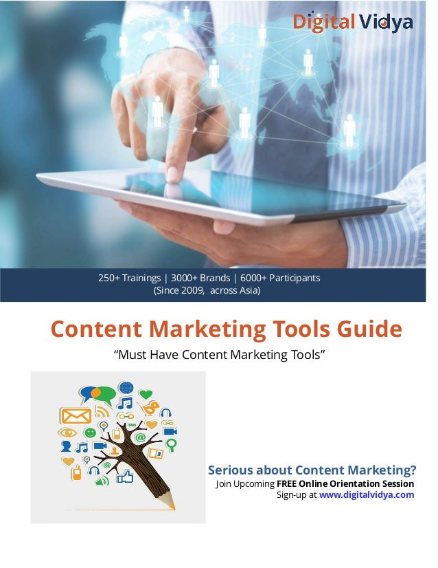 "Content Marketing Tools Guide ""Must Have Content Marketing Tools"" Serious about Content Marketing? Join Upcoming FREE Onli..."