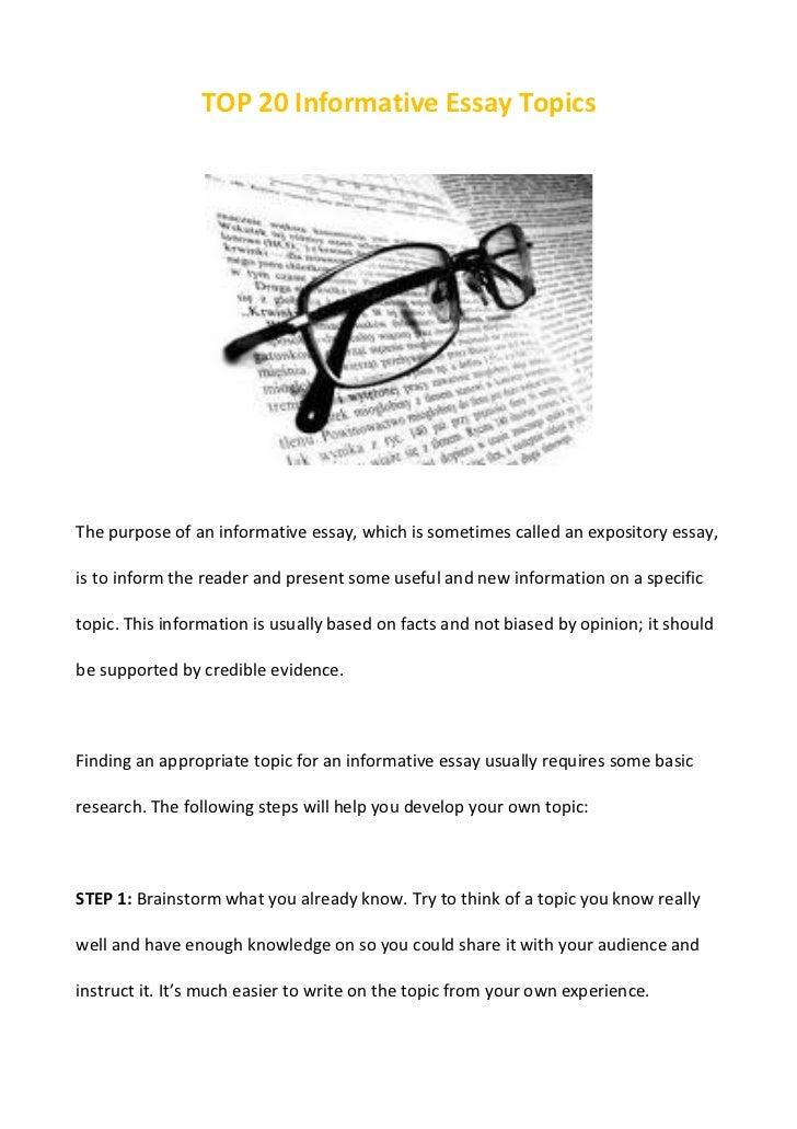 good topics for informative essays