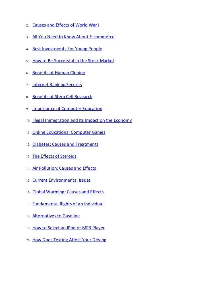 informative essay ideas topics