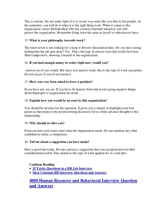 3 - Most Common Interview Questions And Answers